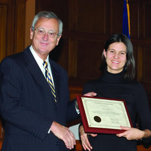 Justice Theodore Boehm and Molly K. Smith