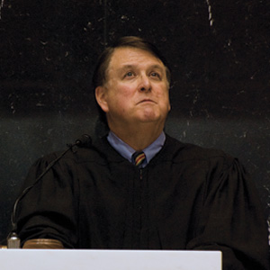 Photo of Chief Justice Randall T. Shepard during the 2012 State of the Judiciary