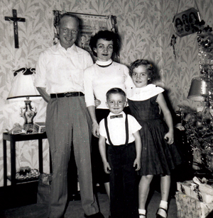 Judge Barthold (center) with her husband Eddie and their children.