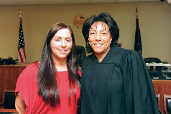 Photo of Judge Maria Granger and Susan Jones