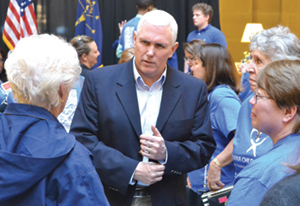 Governor Mike Pence meets with CASA volunteers