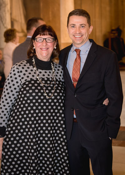 Outgoing IOCS Executive Director Jane Seigel with incoming IOCS Executive Director Justin Forkner.