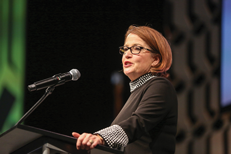 Indiana Chief Justice Loretta Rush speaks at the Indiana Chamber's 29th Annual Awards Dinner.