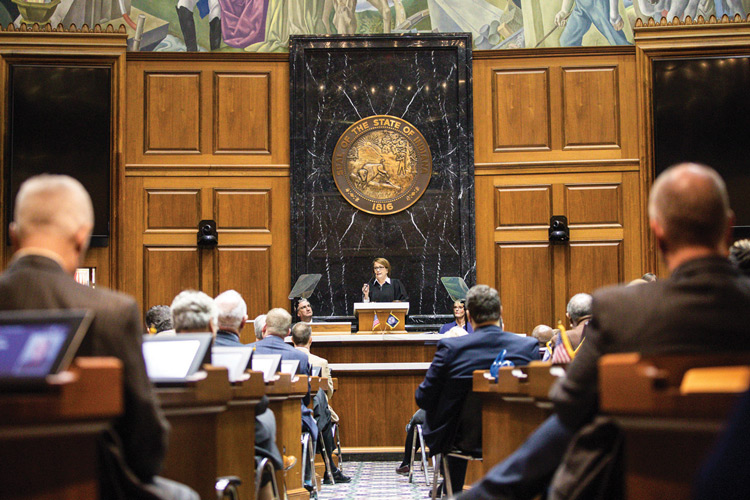 Indiana Chief Justice Loretta Rush addressed the Governor and a joint session of the Indiana General Assembly for the annual State of the Judiciary.