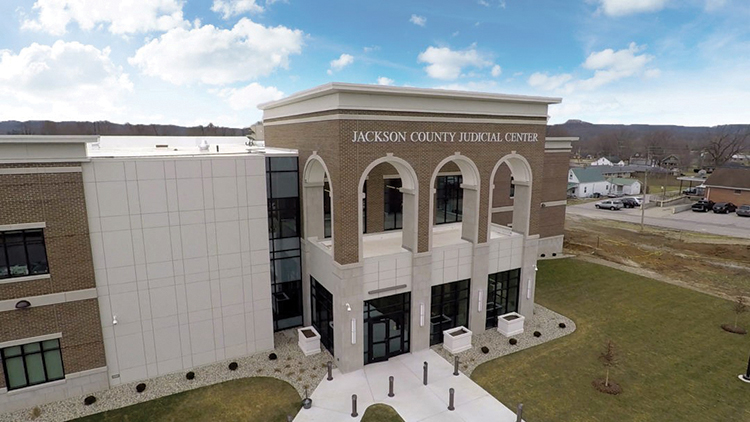 Aerial view of Jackson County Judicial Center