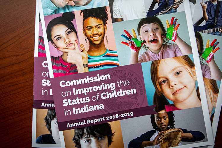 Photo of the 2018-2019 Commission on Improving the Status of Children in Indiana Annual Report